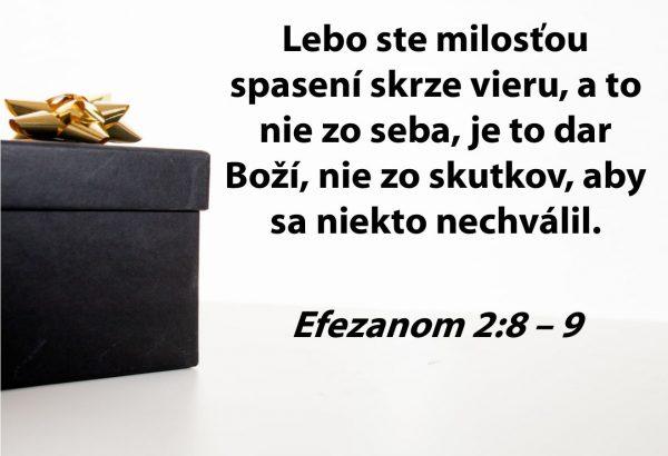 Mém s textom Efezanom 2:8.